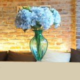 安い卸し売り人工絹のプラスチック花の人工的なアジサイの花