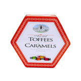 Cmyk impreso el logotipo de relieve de estaño metálico Caja de Chocolate