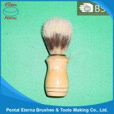 Poignée en bois Bristle Brush de rasage de cheveux (100A)