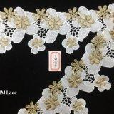 lacet floral de garniture de tulipe d'Irregular de 7cm pour le long vêtement Hme860 de chemise