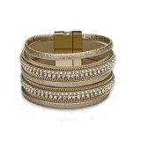 Bracelet d'or de femmes de type d'alliage artificiel punk de bijou