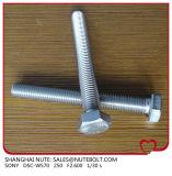 Stainless&#160 ; Tête Hex en acier &#160 ; Boulon DIN933&#160 ; Plein amorçage M27X60 de norme ANSI à M27X260