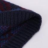 男女兼用の編まれたジャカードリップの印刷POM POMの冬の暖かい帽子の帽子(HW153)