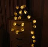 3メートルのローズの花LED電池妖精ストリングライト