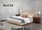 A20 미국식 침실 직물 침대 가죽 침대