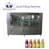 заводская цена моноблочная 3-в-1 автоматическое заполнение сока машины/стеклянных бутылок для напитков небольшой фруктовый сок заполнения машины