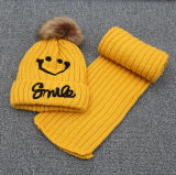 Vastgestelde Sjaal van de Hoed van Beanie van het Borduurwerk van de Winter van de Meisjes van de Jongens van de Kinderen van de Baby van jonge geitjes de Unisex- (SK416S)