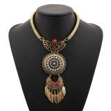 Длинний ретро круглый красный Jewellery перлы с ожерельем листового золота