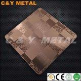 Strato decorativo dell'acciaio inossidabile 410 con la vibrazione, i colori Ti-Neri del rivestimento ed acquaforte