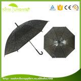 플라스틱 손잡이를 가진 자동적인 열려있는 다채로운 비 투명한 우산