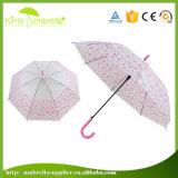 guarda-chuva reto transparente do PVC do guarda-chuva de Rod dos painéis 21inch 8