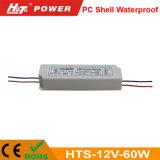 12V 5A 플라스틱 방수 LED 전력 공급 세륨 RoHS Hts 시리즈