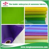 La tela no tejida de TNT Spunbond crea para requisitos particulares con diverso color