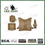 サービス犬の馬具のMolleの戦術的なベストの取り外し可能な袋パッチが付いている軍の軍隊犬の屋外のハイキングのバックパック