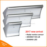 Lampada da parete esterna autoalimentata solare luminosa eccellente di obbligazione LED del sensore di movimento dei 2017 indicatori luminosi