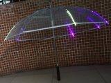 Ombrello diritto del capretto trasparente promozionale sicuro più poco costoso cinese LED