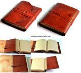 Пусковая площадка примечания дневника сочинительства препроводительной записки Faux кожаный с бумагой