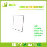 Iluminación del panel cuadrada ahorro de energía del anuncio publicitario 40W Embeded LED