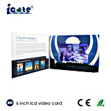 6 pulgadas de pantalla de vídeo LCD la promoción de tarjeta de felicitación para negocios invitación