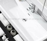 Vaidade moderna popular do banheiro da mobília da madeira compensada da laca do estilo (ACS1-L65)
