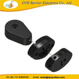 Dyh Absinken-Geformter Kabel-Retraktor mit dem Haften des ABS Platten-Endes für Kleinbildschirmanzeige-Sicherheit