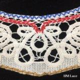 галстукы ворота шнурка вышивки хлопка 33*20cm восхитительные одевая ворот вспомогательного оборудования украшения DIY с геометрической картиной Hm2020