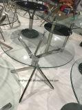 現代フレームのサンプル円形のガラスダイニングテーブル