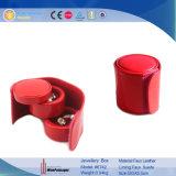 Anillo de soporte de desplazamiento al por mayor Joyería Cuero Box (8199)