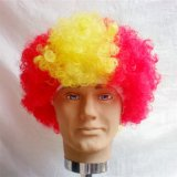 Peruca humana elegante cheia do futebol/futebol do laço do cabelo brasileiro