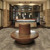 Плитка офиса/гостиницы/домашних датчика Melborne -1/12 ковра петли кучи жаккарда ковра с затыловкой Eco-Битума