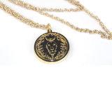 hecho personalizado de la personalidad de moneda de oro de la cadena collar decorativo