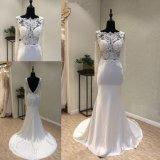 Атласный кружевом валика клея Русалки вечерние платье свадебные платья