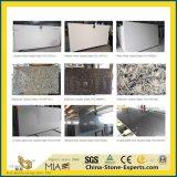 De kunstmatige Witte/Zwarte/Grijze/Gele/Kristal Gebouwde Steen van het Kwarts voor Keuken/Badkamers/Muur/Vloer/Countertop