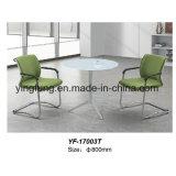 Tavolino da salotto moderno di stile della mobilia con vetro Tempered (YF-T17010-B)