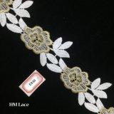 5cm 아름다운 Foral 손질 레이스, 결혼 예복 부속품 Hme836를 위한 꽃 프린지 레이스