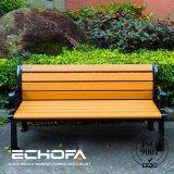 Parc de l'eau Cheap banc en bois Le bois plastique banc de parc de mobilier de jardin en fer forgé