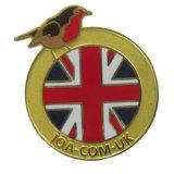 Distintivo molle personalizzato di Pin del catenaccio dello smalto due di marchio di Tessel (XD-MB-01)