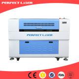 Máquina de couro do gravador do laser do CO2 da estaca do PVC da madeira de pano