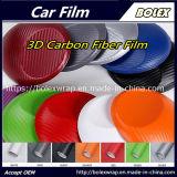 Película de fibra de carbono em 3D Carro Vinil adesivo autocolante de enrolamento da folha