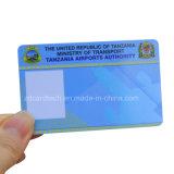 Изготовленный на заказ карточка удостоверения личности дела PVC печатание Cr80 пластичная