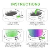 Bewegung betätigtes Nachtlicht der Toiletten-LED, Bewegungs-Fühler-Toilettenightlight-Toiletten-Sitzlicht mit 8 ändernden Farben für Waschraum-Badezimmer