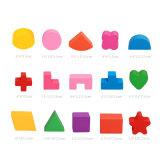 Montessori Geometria 3D Madeira Arraste caixa de carro de brincar de blocos de Educação Infantil