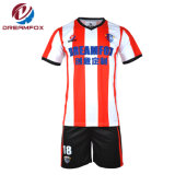 Hot Sportswear bon marché de l'équipe 100% Polyester sublimé uniformes de Soccer Jersey