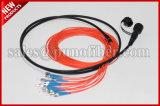 7,0Mm 12 MPO para FC Kits de breakout monomodo patch cable óptico impermeável