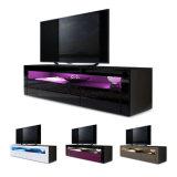 Basamento chiaro UV dell'unità del Sideboard TV del nero LED di alta lucentezza