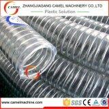 Linha transparente da extrusão da mangueira do fio de aço do PVC