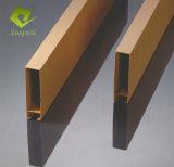 Architektonische Innenarchitektur-lineare Decken-/Leitblech-hölzerne Deckenverkleidung-Profil-Quadrat-Gefäß-Decken-Aluminiumfliesen