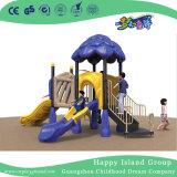 Для использования вне помещений детей оранжевого цвета дерева дом оцинкованной стали игровая площадка для себя во дворе (HG-10201)