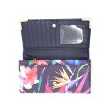 Lcq-0127 OEM / ODM Fleurs personnalisé d'impression Fashion femmes Long Wallet