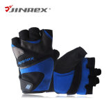 Тренажерный зал половина веса пальцев подъемной кожаные перчатки спортивное снаряжение